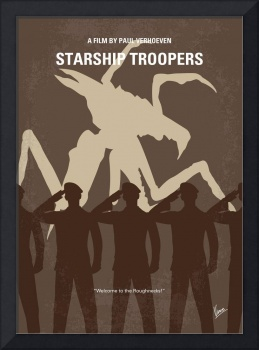 No424 My Starship Troopers minimal movie poster