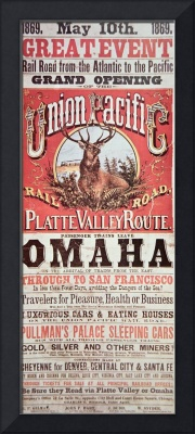 Union Pacific Transcontinental Railroad Poster
