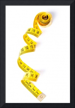 Yelow measuring tape, isolated on white