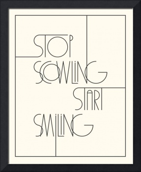 Stop Scowling •Ivory