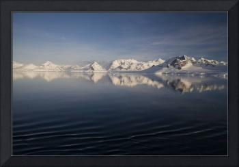 Sunset Neumayer Channel, Antarctica - 3 colour