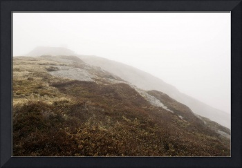 Signal Hill in the fog, Newfoundland.