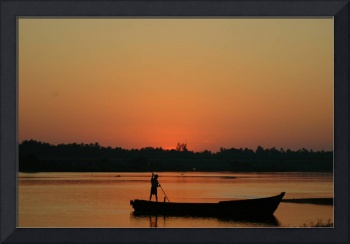Boatman in south India