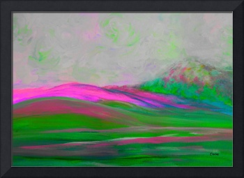 Clouds Rolling In Abstract Landscape Pink
