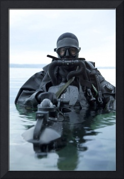Special operations forces combat diver with underw