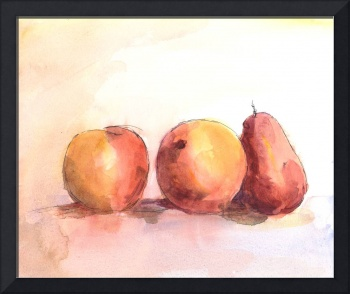 Fruit Trio - Tangerines and Pear