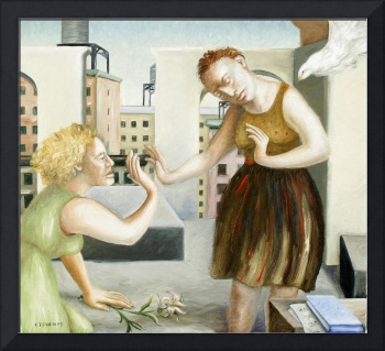 Rooftop Annunciation, 1 by Caroline Jennings