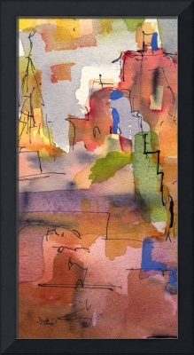 Abstract Modern in Earth Tones Painting by Ginette