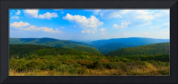 Skyline Drive Panorama Rich Colors