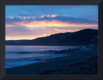 Sunset over Seaton Cornwall UK