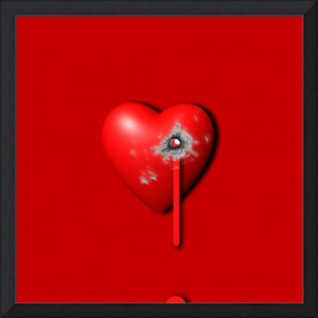 Heart Series Love Bullet Holes
