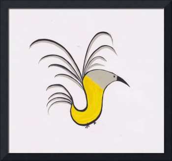 Abstract Yellow Robin