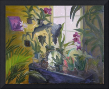 Botanical Garden Window With Art Glass