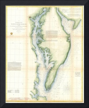 Vintage Chesapeake Bay Map