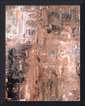 Black and Brown Abstract Art Painting