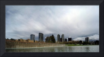 Bellevue Downtown Cloudy Panorama