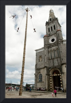 Voladores and church