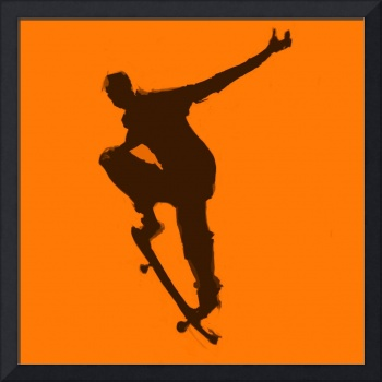 Skateboarder 1 . orange brown (c)