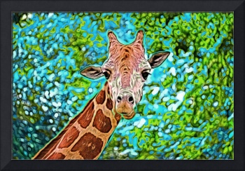 Giraffe in Photo Paint
