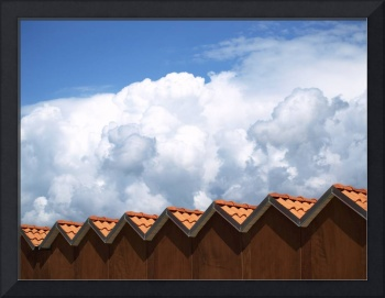 Clouds and roofs