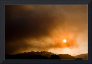 Fourmile Canyon Fire Sunset Boulder County Colorad