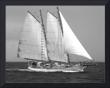 Sailing Schooner Under Full Sail