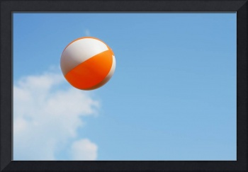 Beach ball on cloud