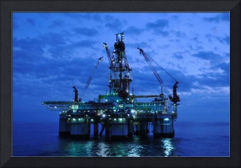 Oil Rig at Twilight
