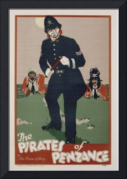Poster advertising 'The Pirates of Penzance', c.