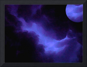 Storm Clouds with Moon