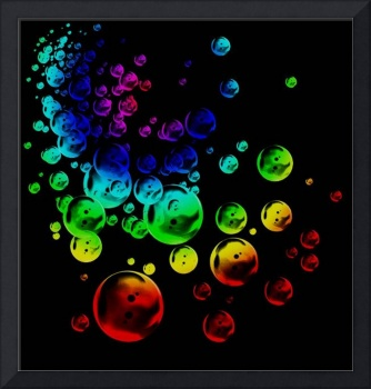 colored bubbles dark grungy