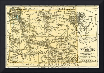 Wyoming Antique Map 1891