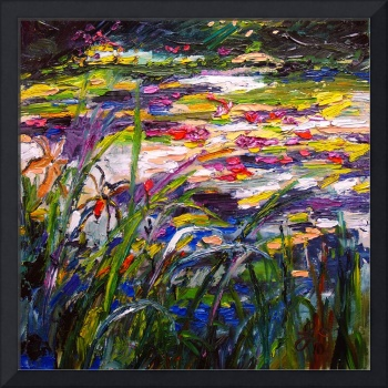 At The Waters Edge Oil Painting by Ginette