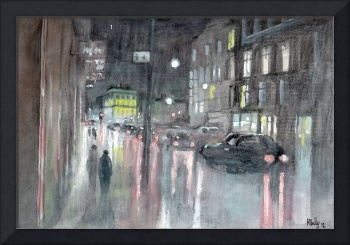 Rain on Mosley Street, Newcastle II