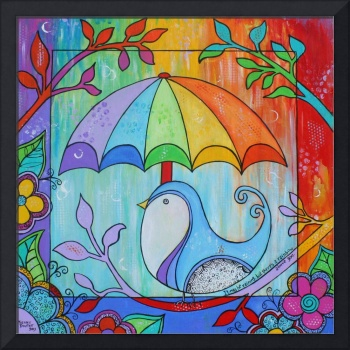 Rainbow Umbrella Bird