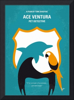 No558 My Ace Ventura minimal movie poster