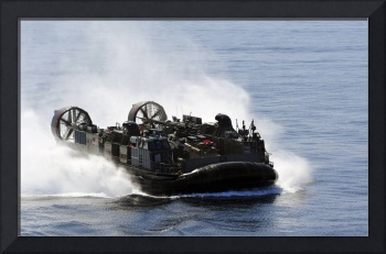 A Landing Craft Air Cushion transits through the P