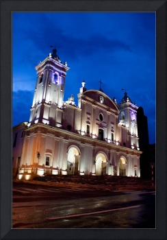 Asuncion Church Night Scene