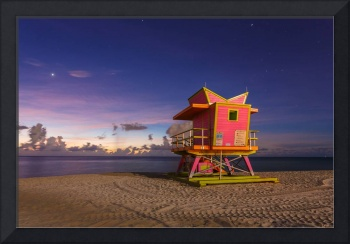 46th Street Lifeguard Tower at Twilight