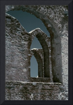 Infrared Mission Stone Arches - Mission San Jose