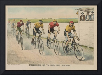 Vintage Cycling Race Illustration (1894)