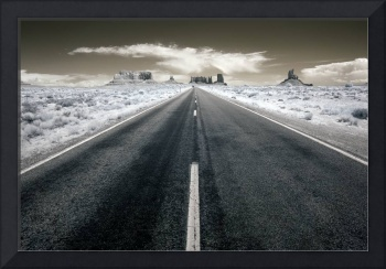 Desert Highway - infrared landscape