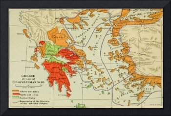 Vintage Map of Ancient Greece (1904)