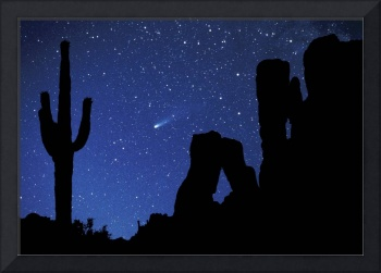 Halley's Comet Over Superstition Mountains