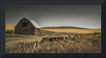 Brown Barn on a Country Road