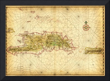 Map of the islands of Hispaniola and Puerto Rico 1