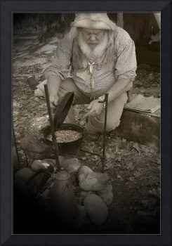 Gold Miner Cooking Beans