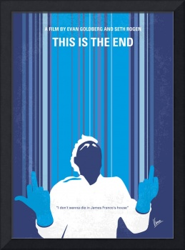 No220 My This is the end minimal movie poster