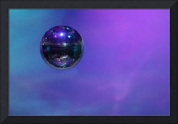 Mirror ball, blue