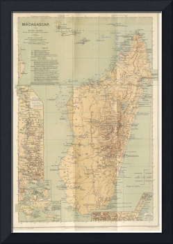 Vintage Map of Madagascar (1896)